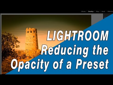 How to Lower the Opacity of a Lightroom Preset