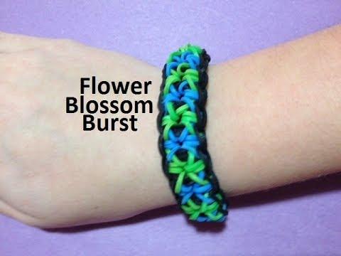 How to Make a Flower Blossom Burst Bracelet on the Rainbow Loom - Original Design