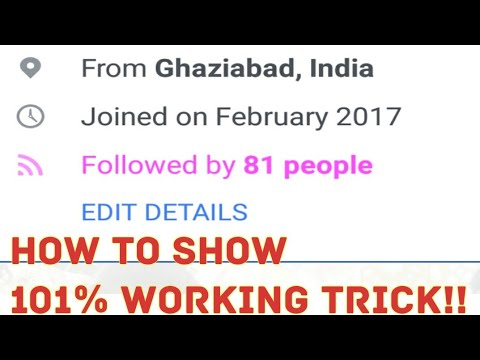 How to show followers on Facebook profile/timeline 101% working