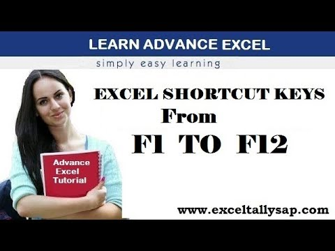 Excel Shortcut Keys From F1 TO F12 in Hindi