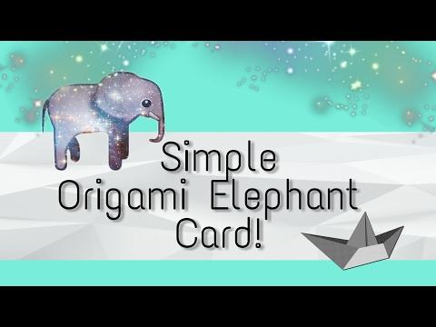 Simple Origami Elephant Card!