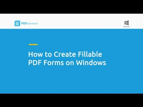 How to Create Fillable PDF Forms on Windows