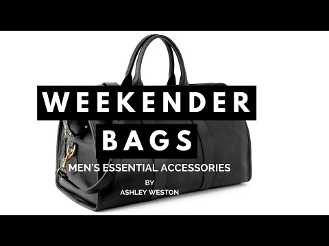Weekender Bag - Men's Essential Accessories - Duffle Holdall Carryall Leather Canvas