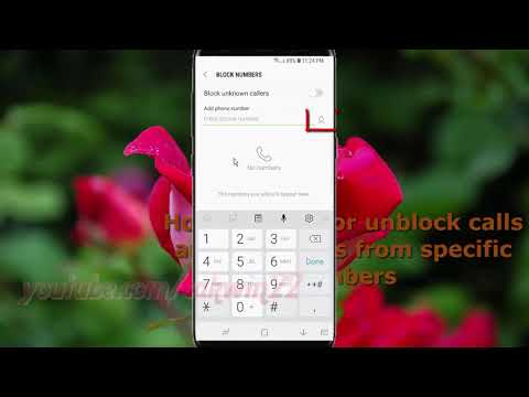 Samsung Galaxy S9 : How to Block or unblock calls and messages from specific numbers (Android Oreo)