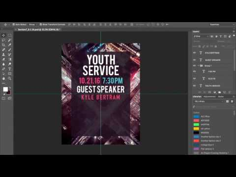 Photoshop Timelapse - Making a Flyer