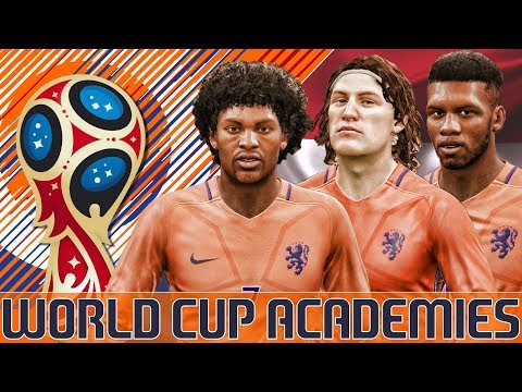 World Cup Academies - The Netherlands - Fifa 18 World Cup Career Mode (2018 - 2030)