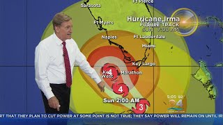 Tracking Hurricane Irma 9-9-17 5pm Advisory
