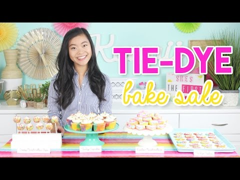 How to Make THREE Tie-Dye Recipes: Cookies, Pops, and Cupcakes!