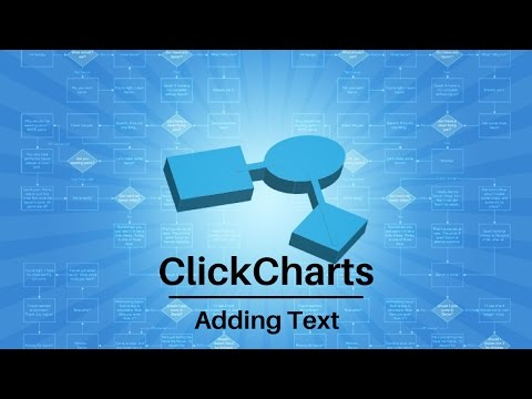 ClickCharts Software Tutorial | Add Text to Charts and Diagrams