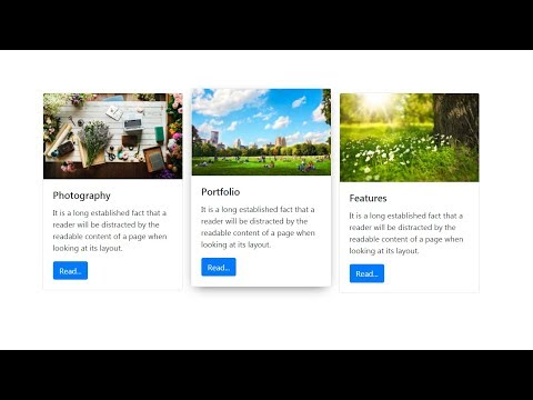 How to Create Bootstrap Card Hover Effect ( jQuery )