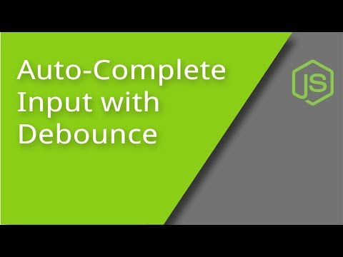 Build an Autocomplete Input with Debounce