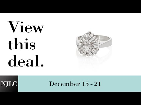 Deal of the Week: White Gold Pear Shaped Cluster Ring