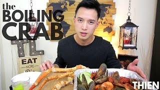 Mukbang With Thien The Boiling Crab King Crab Legs Mussels Crawfish A