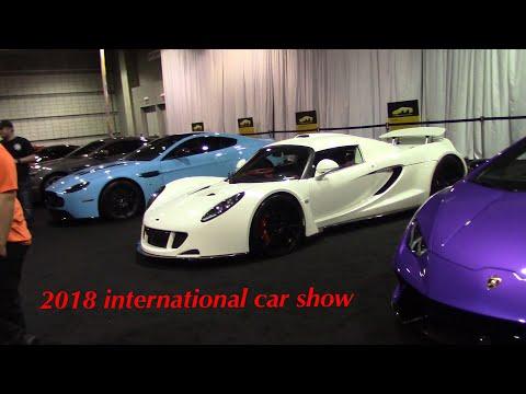 Vlog #7 Pittsburgh International Auto Show 2018 (Lambo, Hennessey, Ferrari, Bentley,R8)