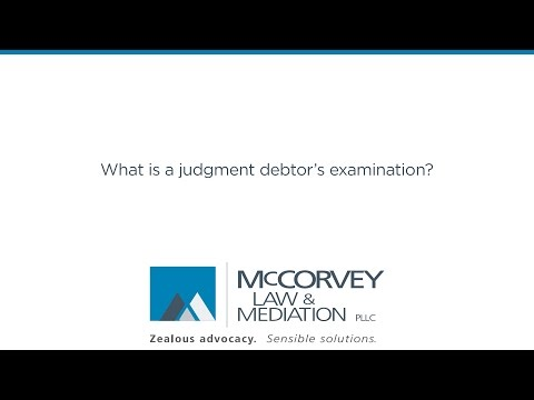 What is a judgment debtor's examination?
