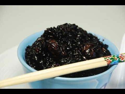 Black Glutinous Sticky Rice: clay pot style with rice cooker.