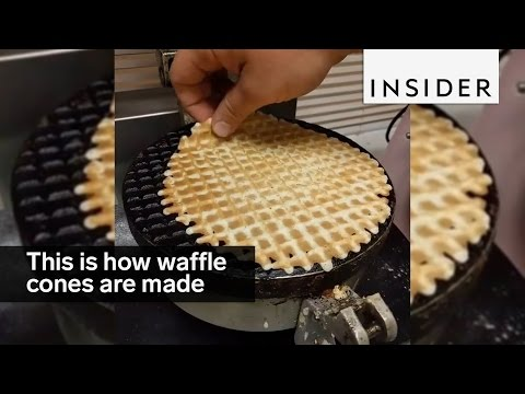 This is how waffle cones are made