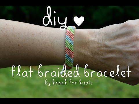 Flat Braid Wax String Friendship Bracelets | Tutorial Inspired by Pura Vida Bracelets!
