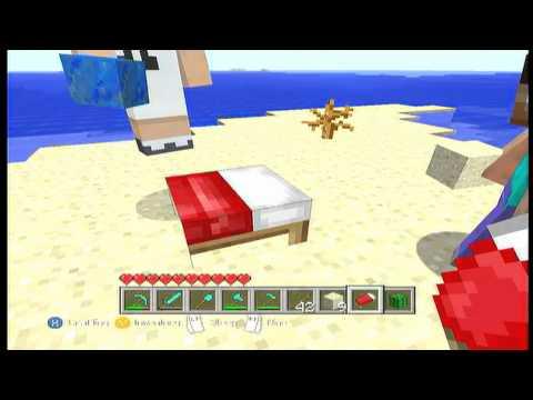 Minecraft *New* Half Bed Glitch (Xbox 360)
