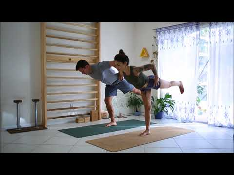 Yoga with my husband