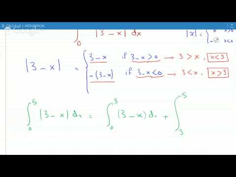 Evaluating the integral of an absolute value function