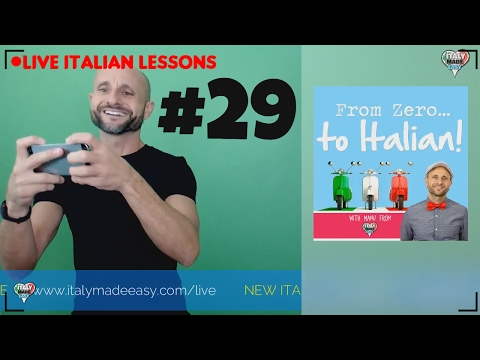 PRACTICE Beginner and Basic Italian Pronunciation and Dictation EXERCISE: Learn Italian Online LIVE