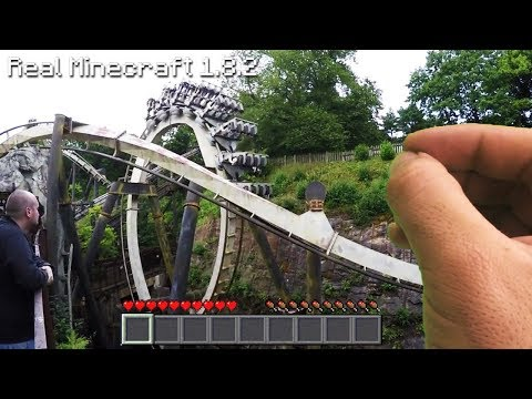 Real Life Minecraft - SCARY ROLLER COASTER
