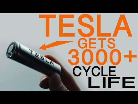 TESLA ON TRACK TO GET 3000+ CYCLE LIFE OUT OF 18650 BATTERY CELLS