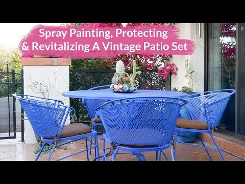 Spray Painting, Protecting & Revitalizing A Vintage Metal Patio Set / Joy Us Garden