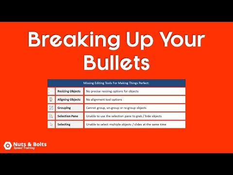 PowerPoint Trick: Breaking Bullet Points into Layouts Quickly