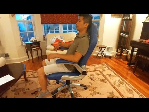 Homall Racing Chair Blue Review and Full Assembly