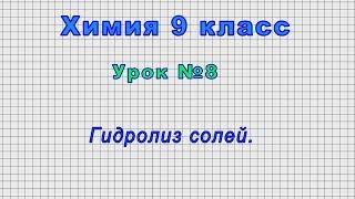 Download Химия 9 класс (Урок№8 - Гидролиз солей.) Video