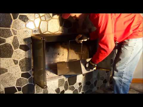 How to clean the ash out of a fireplace.