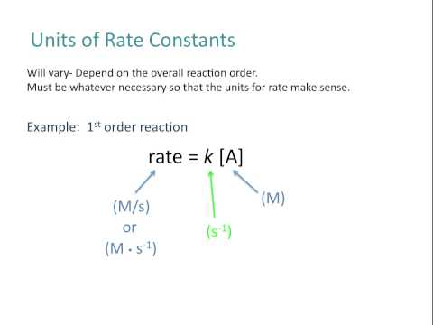 Intro to Rate Laws, Rate Constants, Reaction Order - Chemistry Tutorial