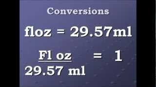Conversion Video Fluid Ounce To Milliliters And Back Againwmv