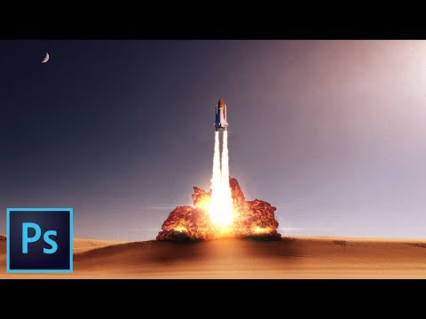 INCREDIBLE Fried Chicken Rocket Launch Effect Photoshop CC Tutorial
