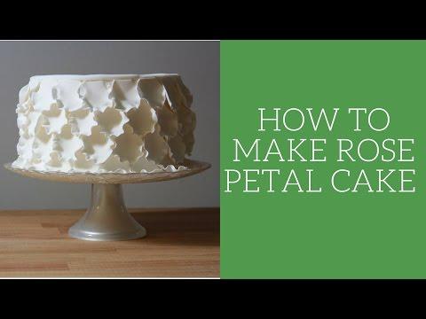 How to make a rose petal cake