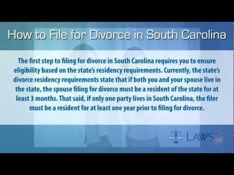 How to File for Divorce in South Carolina