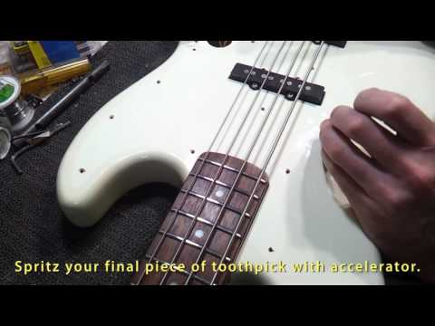 How To Quickly and Permanently Fix a Stripped Screw Hole in your Guitar.
