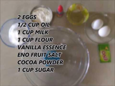 Easy chocolate sponge cake recipe | fresh cream | eno fruit salt| egg | pressure cooker