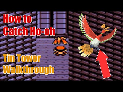 Pokemon Gold / Silver Walkthrough [HD] Part 34 - Tin Tower and Ho-oh