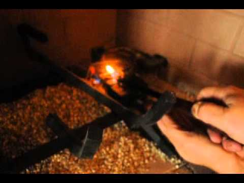 Manually lighting a gas fireplace (the gas velocity seems too fast to light properly)