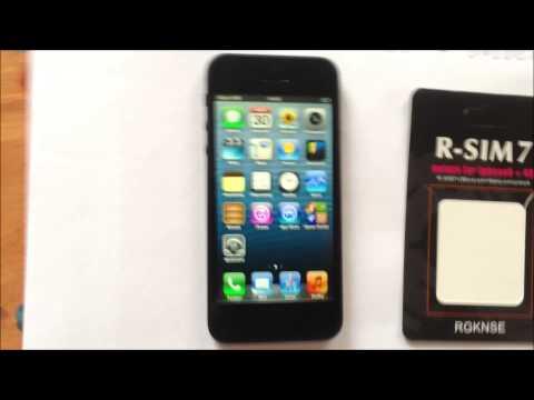 iPhone 5 Orange unlock R-SIM 7