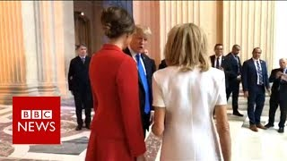Trump praises Macron