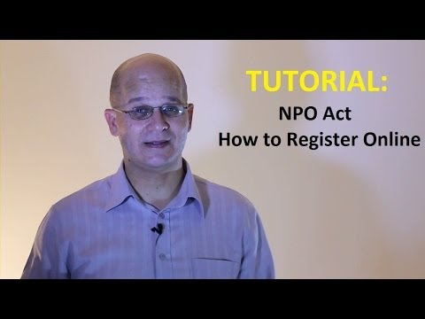 NPO ACT: HOW TO REGISTER ONLINE