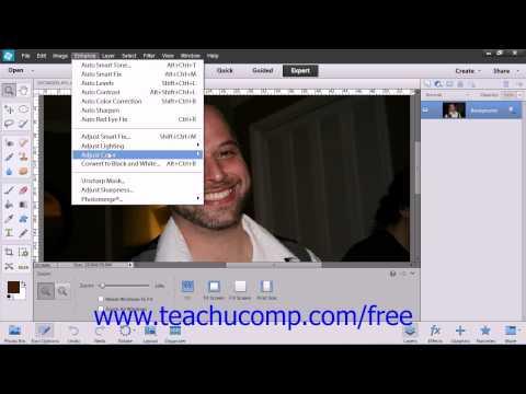 Photoshop Elements 12 Tutorial Adjusting Skin Tone Adobe Training Lesson 14.11