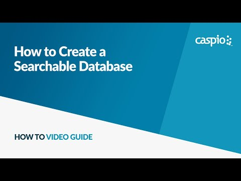 How to Create a Searchable Database - Part 1: Importing Data