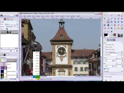 GIMP Basics 4 - How to Crop and resize an image