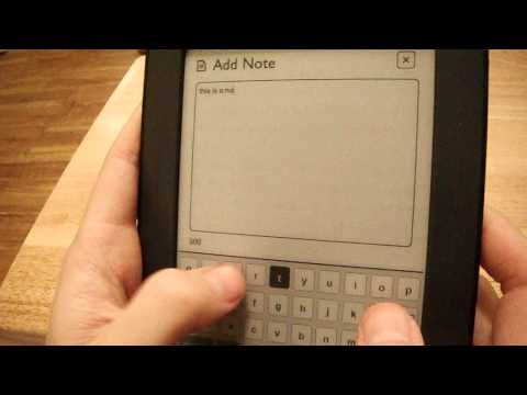 Nook Simple Touch Notes and Highlights