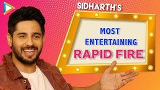 "Sidharth Malhotra: ""First Thing I Notice About The Girl Is…""| Rapid Fire | Jabariya Jodi | Parineeti"